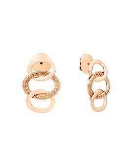 Pomellato - 18K Rose Gold Brera Brown Diamond Drop Earrings