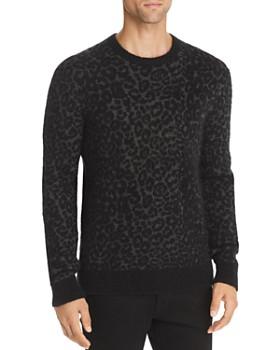 John Varvatos Star USA - Boulder Leopard-Print Mohair Sweater