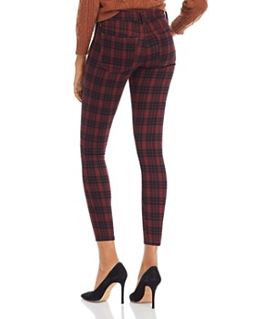 Joe's Jeans - The Icon Skinny Ankle Jeans in Crimson Plaid - 100% Exclusive