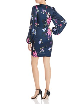Jill Jill Stuart - Ruched Floral-Print Mini Dress