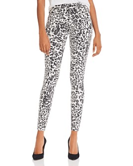 Hudson - Barbara Skinny Jeans in Washed Leopard