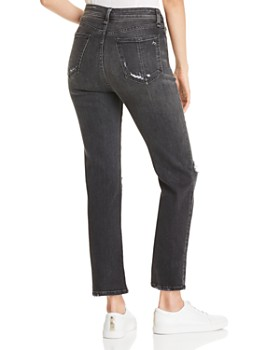 rag & bone - Nina High-Rise Ankle Cigarette Jeans in Grafton with Holes