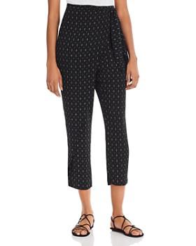 c489124a0 AQUA - Printed Tie-Front Pants - 100% Exclusive ...