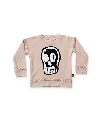 NUNUNU - Girls' Dizzy Skull Sweatshirt - Baby