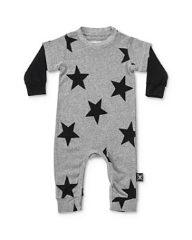 NUNUNU - Unisex Layered-Look Star Playsuit - Baby