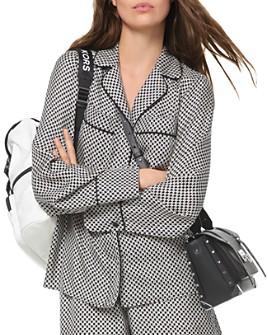 MICHAEL Michael Kors - Logo Checkerboard Pajama-Style Silk Top