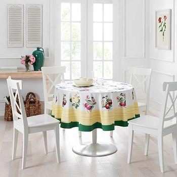 "Villeroy & Boch - French Garden Round Tablecloth, 70"""