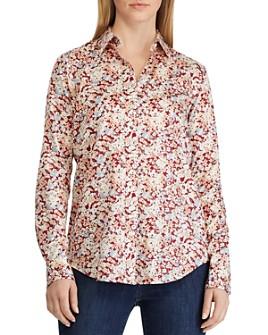 Ralph Lauren - Cotton Sateen Floral-Print Shirt