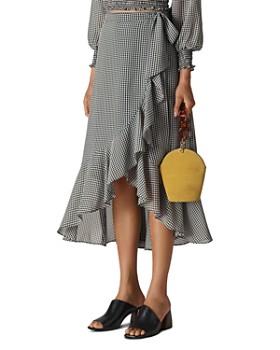 Whistles - Gingham Midi Wrap Skirt