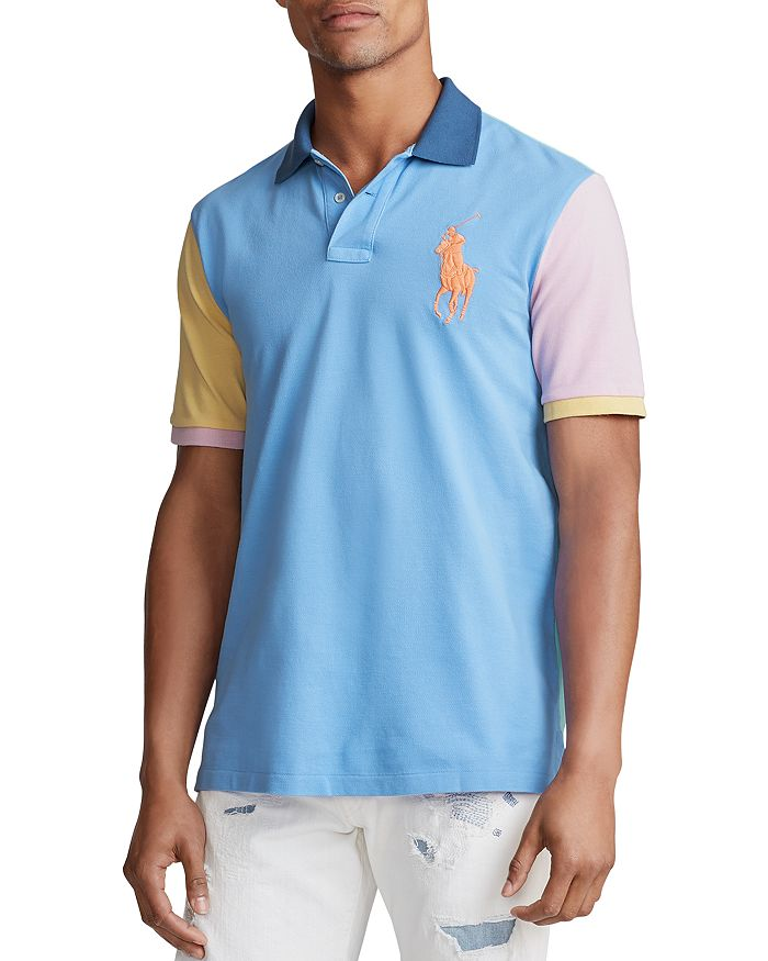 Polo Ralph Lauren - Color-Block Mesh Slim Fit Polo Shirt