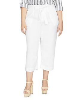 Sanctuary Curve - Inland Linen Wide-Leg Cropped Pants