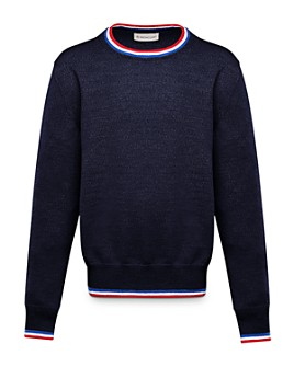 Moncler - Unisex Contrast-Stripe Sweater - Big Kid