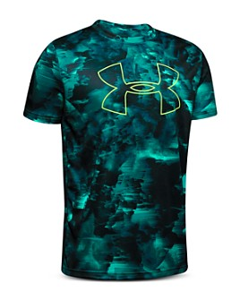 Under Armour - Boys' Abstract-Print Logo Tee - Big Kid