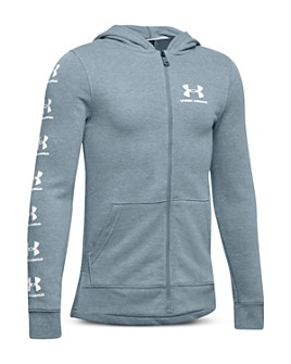 Under Armour - Boys' Rival Logo-Sleeve Zip-Up Hoodie - Big Kid