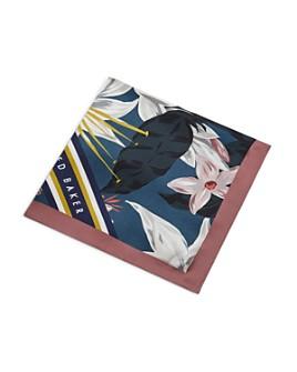 Ted Baker - Afton Floral Geo Print Pocket Square