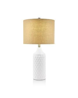 """Cresswell - Cassie 26"""" Quilted-Ceramic Lamp"""