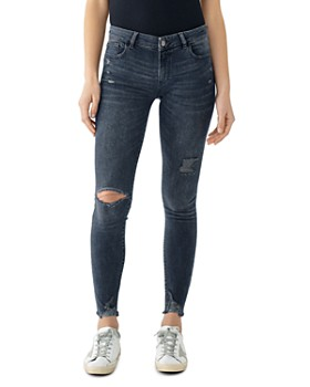 DL1961 - Emma Ripped & Distressed Skinny Jeans in Kent