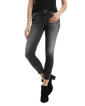 Mavi - Adriana Raw-Hem Skinny Jeans in Gray Every