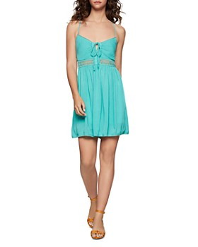 BCBGENERATION - Crochet-Trim Fit-and-Flare Dress