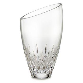 "Waterford - Lismore Essence Angled Round Vase, 9"""