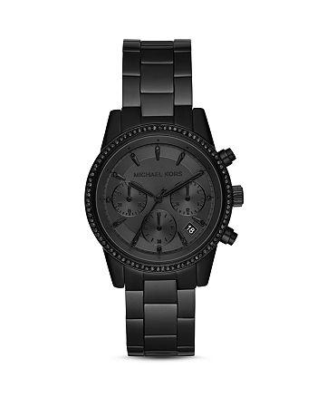 Michael Kors - Ritz Black Chronograph, 37mm