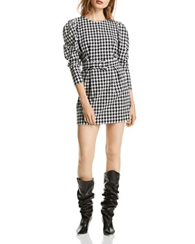 LINI - Riley Puff-Sleeve Houndstooth Dress - 100% Exclusive