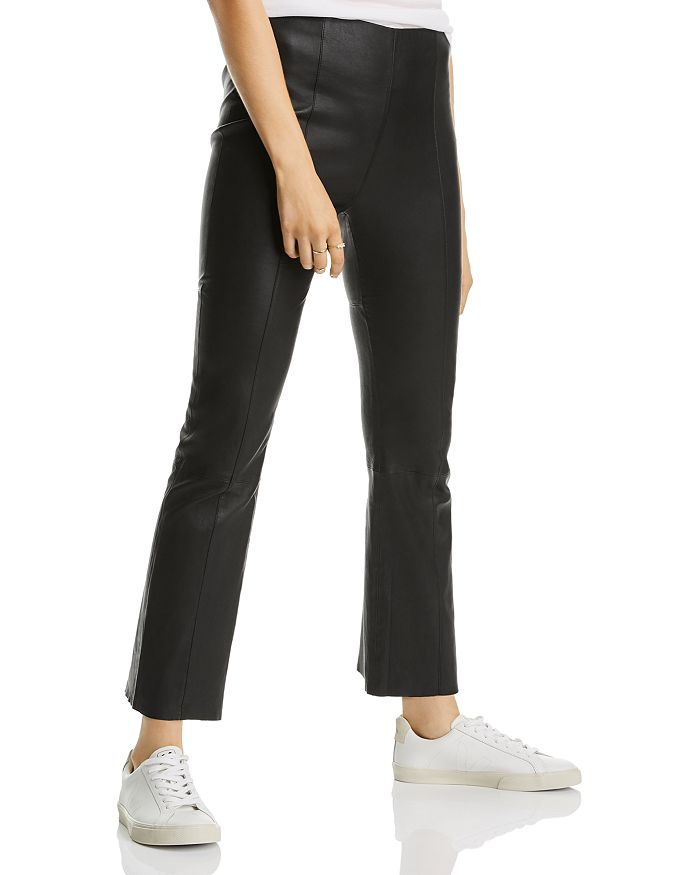 LINI - Breanna Cropped Flared Leather Pants - 100% Exclusive