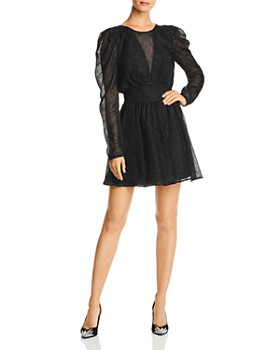 LINI - Gemma Puff-Sleeve Burnout Dress - 100% Exclusive