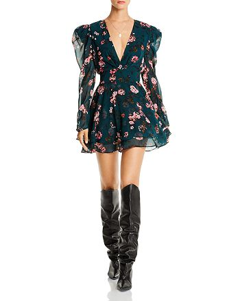 LINI - Isabelle Puff-Sleeve Floral Dress - 100% Exclusive