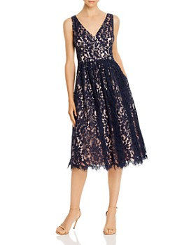 Eliza J - Sleeveless Floral Lace Dress