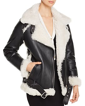 Yves Salomon - Lamb Shearling Aviator Jacket