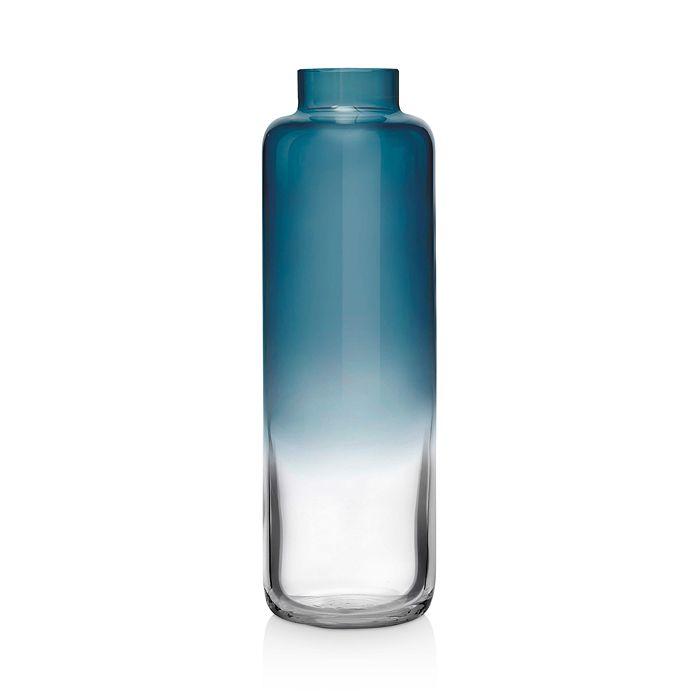 Nude Glass - Magnolia Steel Blue Narrow Vase