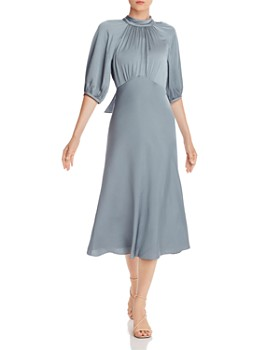 Rebecca Taylor - Ruched Satin Midi Dress
