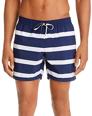Lacoste Serge Imprime Striped Swim Trunks