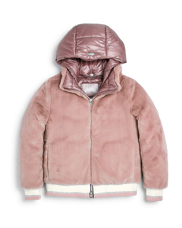 Herno - Girls' Teddy Faux-Fur Bomber Jacket - Big Kid
