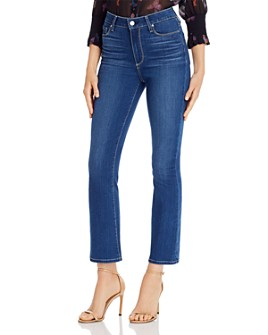 PAIGE - Cropped Flare Jeans in Cityscape - 100% Exclusive