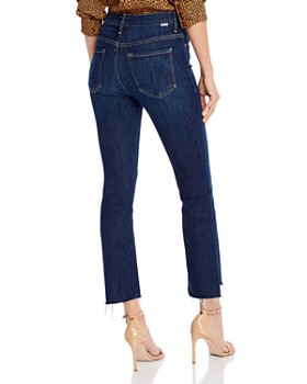 MOTHER - Insider Step Crop Fray Jeans in Clean Sweep