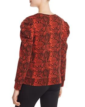 PAM & GELA - Puff-Shoulder Snake Print Sweatshirt - 100% Exclusive