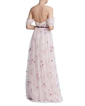 MARCHESA NOTTE - Off-the-Shoulder Floral Tulle Gown