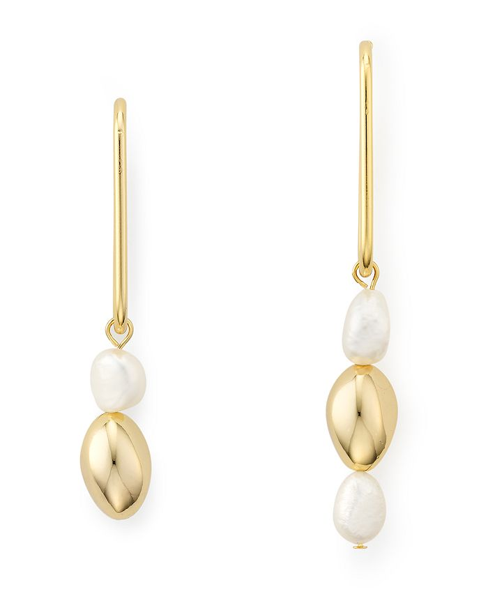 Jules Smith - Mismatched Cultured Freshwater Pearl Drop Earrings