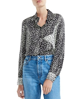 37317c0265f35 Maje - Cilia Color-Blocked Animal-Print Shirt ...
