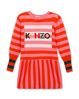 Kenzo - Girls' Striped Logo Dress - Big Kid