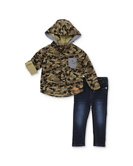 7 For All Mankind - Boys' Hooded Camo Shirt & Jeans Set - Baby