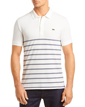 Lacoste - Stripe-Accented Regular Fit Polo Shirt - 100% Exclusive