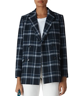 Whistles - Plaid Double-Breasted Blazer