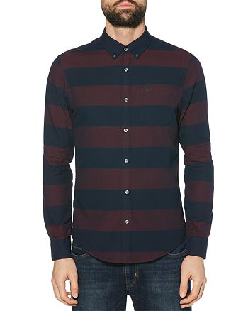 Original Penguin - Striped Dobby Oxford Slim Fit Button-Down Shirt