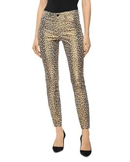 J Brand - Stretch Leather Pants in Jaguar Print