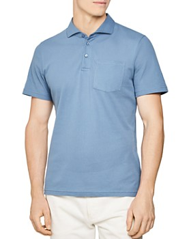 REISS - Beckton Airtech Button Slim Fit Polo Shirt