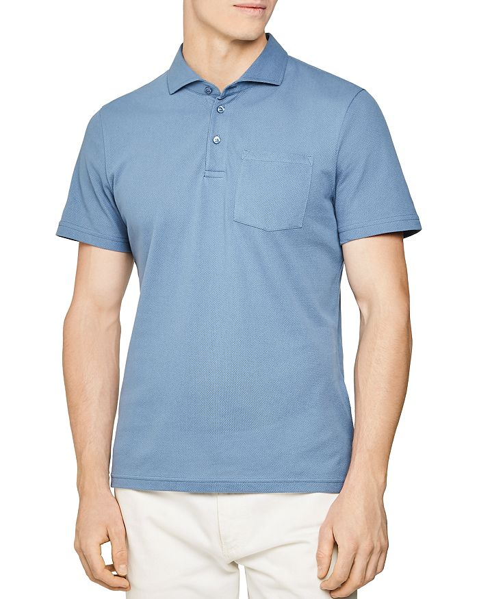 REISS - Beckton Airtech Button Slim Fit Polo Shirt