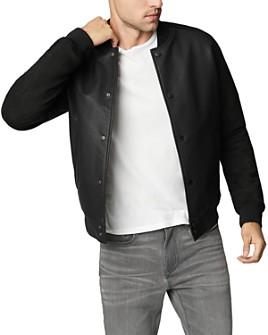 BLANKNYC - Egoist Mixed-Media Bomber Jacket